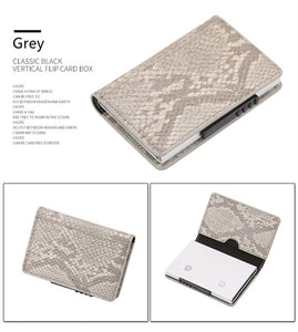 Fashion Men Women Credit Card Wallet Metal