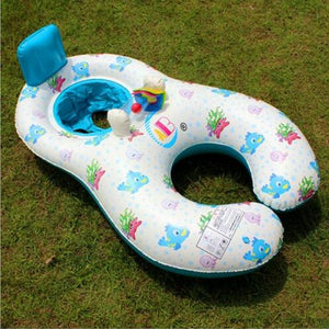 Enjoy a beautiful day with your toddler! Inflatable swimming ring for parent and child - Giftexonline