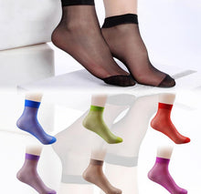 Load image into Gallery viewer, 10 Pairs Multicolor Ankle  Ultra Thin Short Nylon Socks - Giftexonline