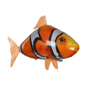 RC Flying Shark Toy Clown Fish Radio Air Swimmer Balloons Inflatable Helium Fish plane RC Helicopter Robot Gift For Kids
