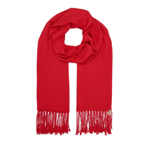 Long Line Pashmina Shawl Scarf Soft Touch in Red