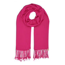 Load image into Gallery viewer, Long Line Pashmina Shawl Scarf Soft Touch in Shocking Pink