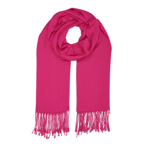 Long Line Pashmina Shawl Scarf Soft Touch in Shocking Pink