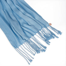 Load image into Gallery viewer, Long Line Pashmina Shawl Scarf Soft Touch in Sky Blue