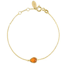 Load image into Gallery viewer, Pisa Mini Teardrop Bracelet Gold Citrine