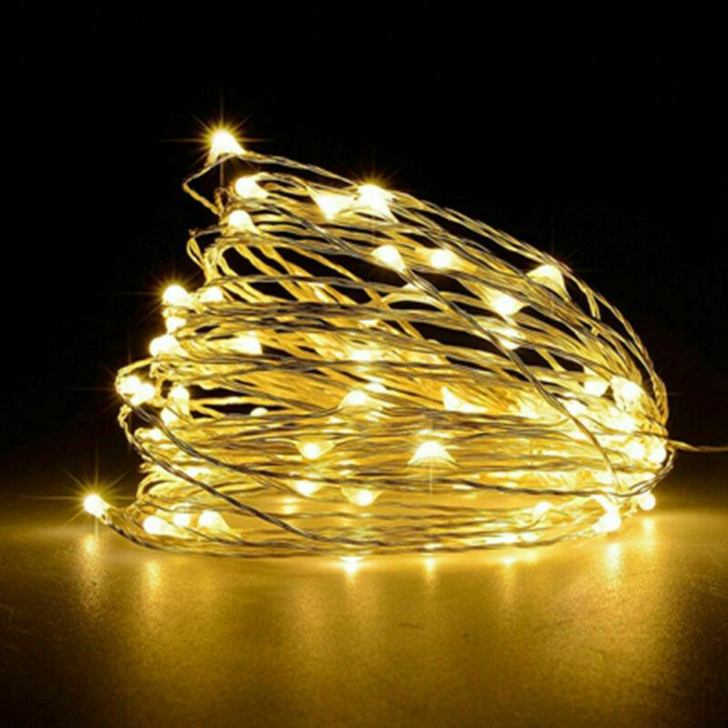 20 Warm Light White LED String Fairy Lights Battery Home Twinkle Decor Party Christmas Garden