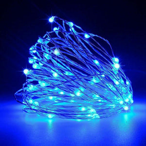 20 Blue LED String Fairy Lights Battery Home Twinkle Decor for Party Christmas Garden