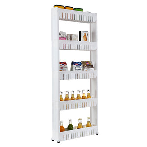 5 Tier Mobile shelving unit great for Bathroom or Kitchen