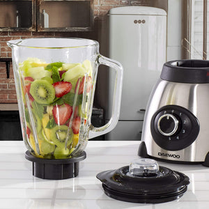 Daewoo Stainless Steel Smoothie & Shake 1.5L Jug Blender & Grinder Fitting