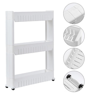 Multi-functional  3 Layer Plastic Storage Rack White