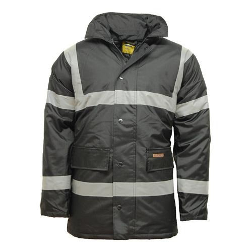Hi Vis Waterproof Parka Jacket with concealed hood - Giftexonline