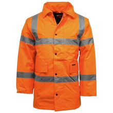 Load image into Gallery viewer, Hi Vis Waterproof Parka Jacket with concealed hood - Giftexonline