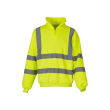 Load image into Gallery viewer, Great looking Hi-Vis Zip Sweatshirt