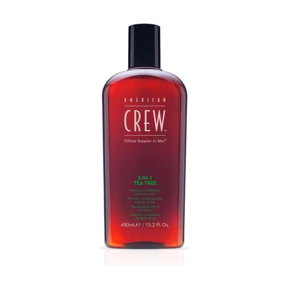 3-in-1 Tea Tree Shampoo, Conditioner en Body Wash  *American Crew* - barberwebshop