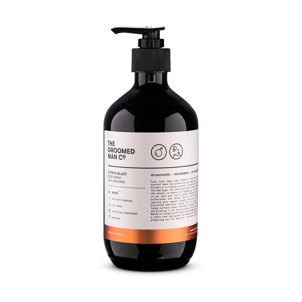 The Groomed Man Co Body Wash -Citrus Blast- 500ml - barberwebshop