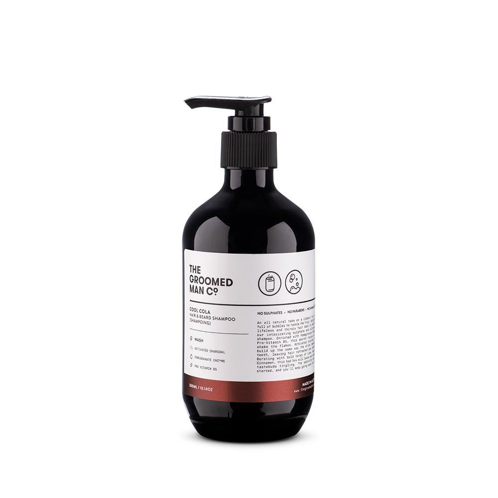 The Groomed Man Co Hair en Beard Shampoo -Cool Cola- 300ml - barberwebshop