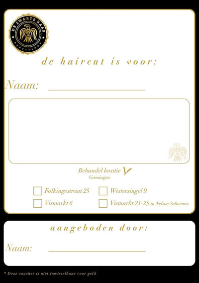 "Gift Voucher ""Haircut"" - barberwebshop"
