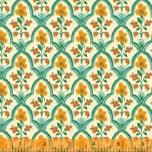 Malibu - Orange and Teal Floral