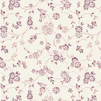 Liberty Cotton - Pink Floral on Cream