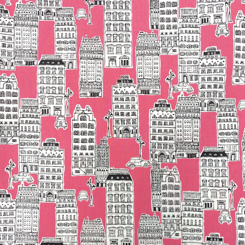 City Scape on Pink