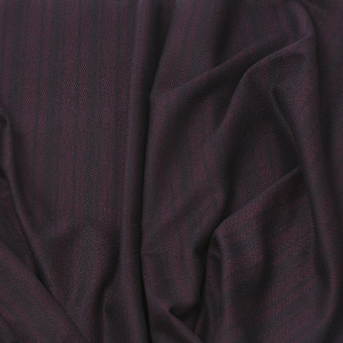Striped Black/Wine Suiting Fabric 191Woven