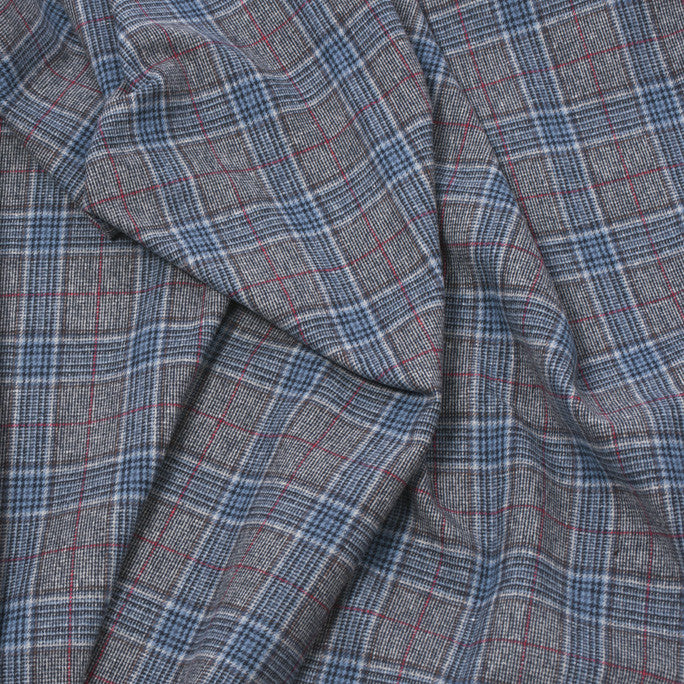 Blue Plaid Cotton Fabric 204 - Fabrics4Fashion