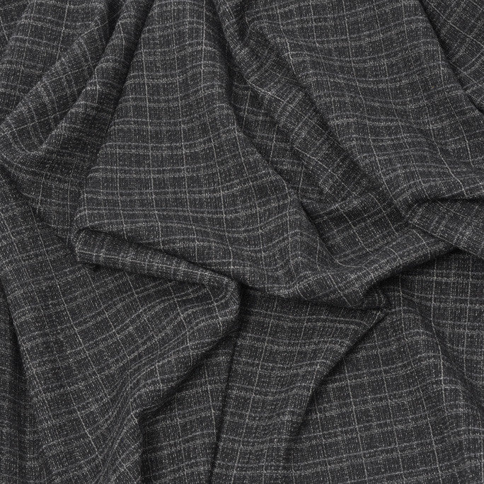 Melange Check Wool Suiting Fabric 228 - Fabrics4Fashion