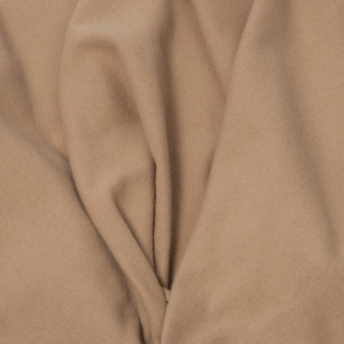 Camel Wool Blend Coating Fabric 360 - Fabrics4Fashion