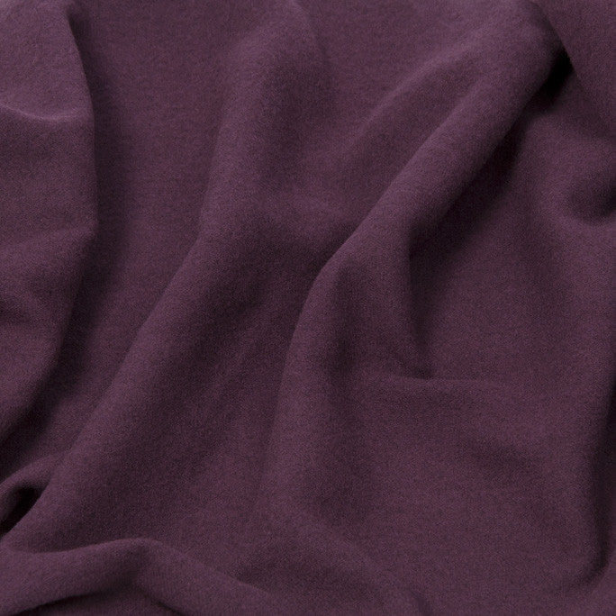 Plum Wool Blend Coating Fabric 429Woven