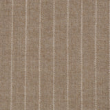 Camel Chalk Stripe Suiting Fabric 646 - Fabrics4Fashion