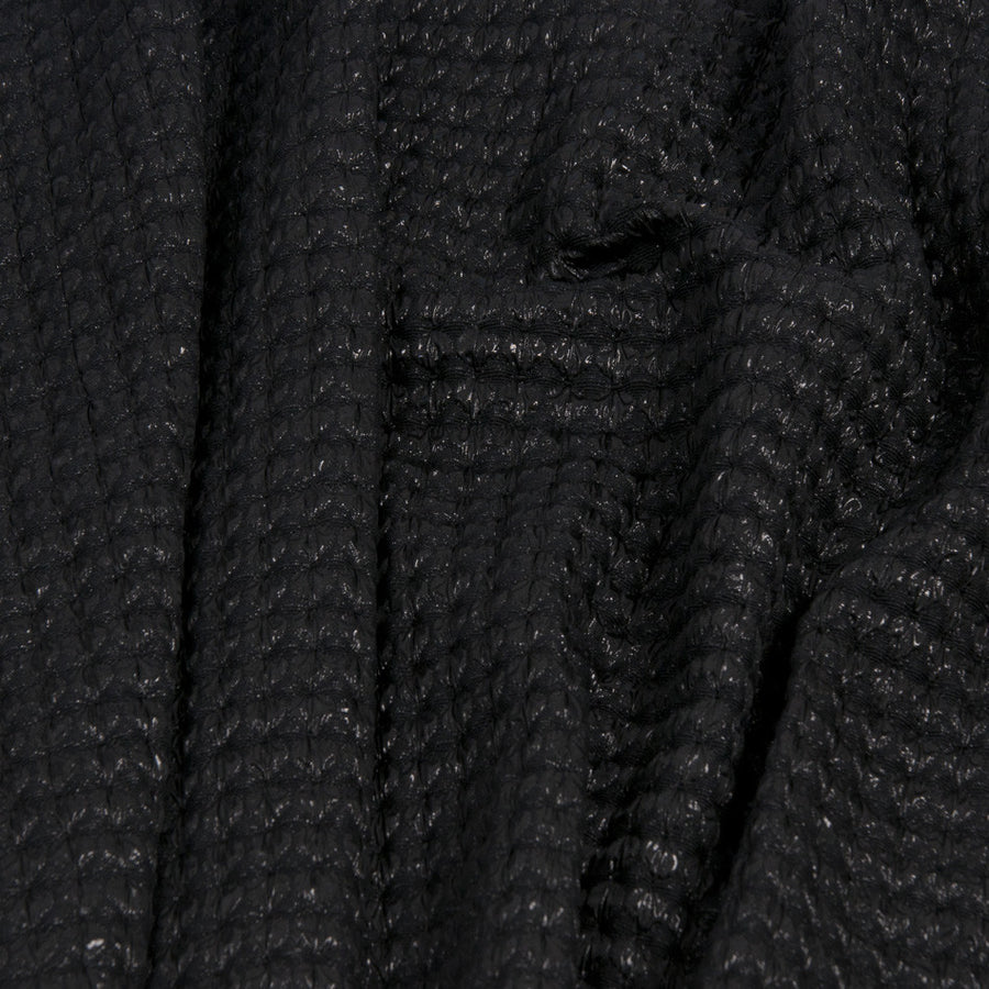 Black Shiny / Matte Smoke Fabric 1024 - Fabrics4Fashion