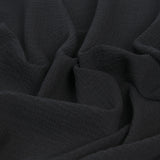 Black Crinkle Crepe 104 - Fabrics4Fashion