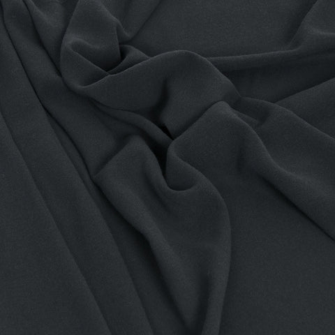 Charcoal Flattering Wool Fabric 109 - Fabrics4Fashion