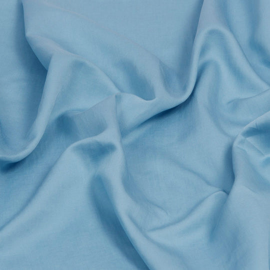 Aqua Blue Tencel/ Linen Fabric 1090 - Fabrics4Fashion