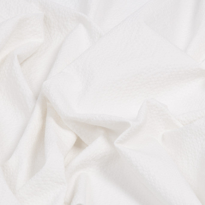 White  Poly Cotton Waffle Weave 1095Woven