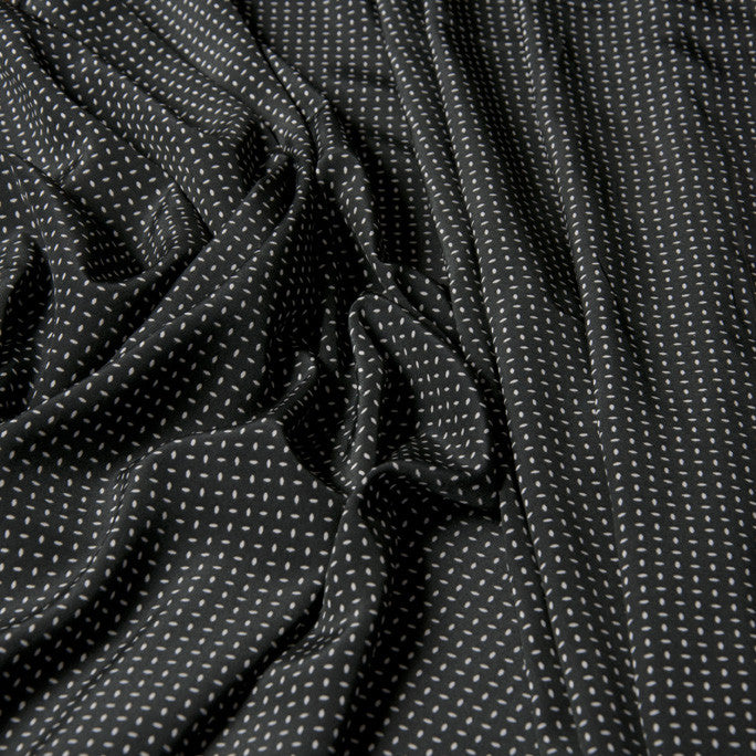 Black Printed Poly Poplin 10 - Fabrics4Fashion