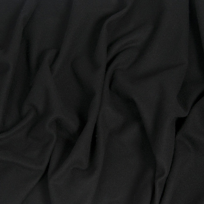 Black Melton Coating Fabric 1110 - Fabrics4Fashion