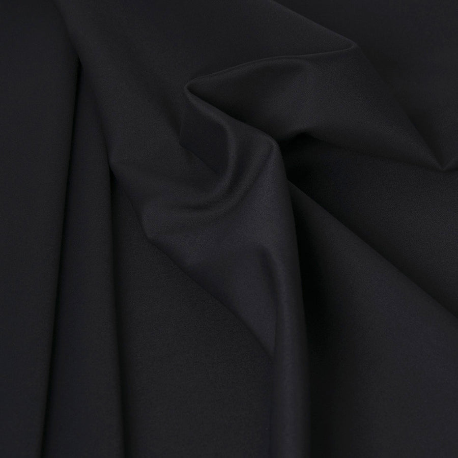 Black Stretch Poly/ Cotton 1169 - Fabrics4Fashion