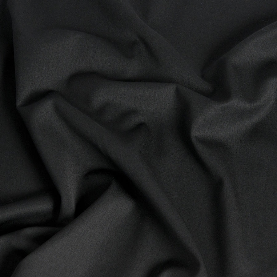 Black Stretchy Twill Wool 1358 - Fabrics4Fashion