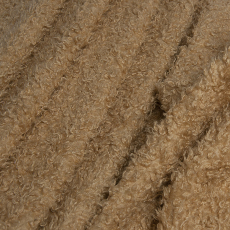 Sand Curly Faux Fur 1391Woven