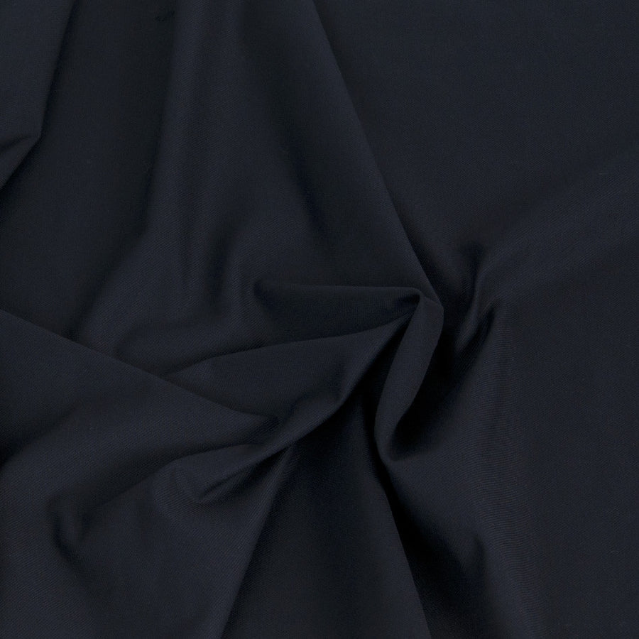 Navy Stretchy Cotton Canvas 1401Woven