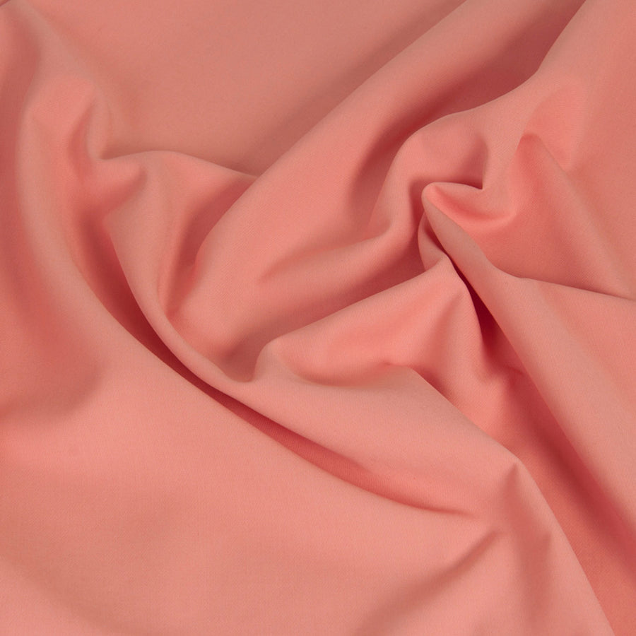 Salmon Mid-weight Stretch Fabric 1418 - Fabrics4Fashion