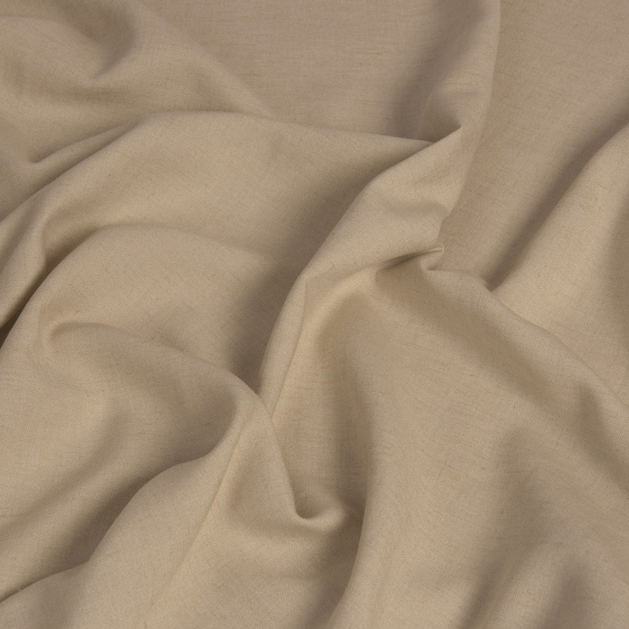 Beige Viscose/Linen Fabric 1447 - Fabrics4Fashion