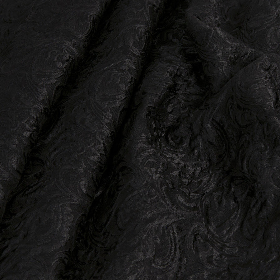 Black luxurious Jacquard 1463 - Fabrics4Fashion