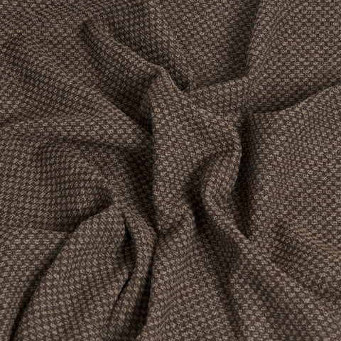 Chocolate Brown Tweed 1511 - Fabrics4Fashion
