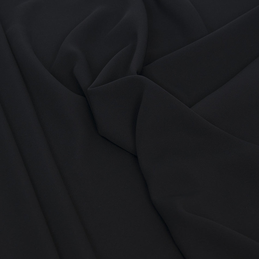 Soft Suiting Black Fabric 1598Woven
