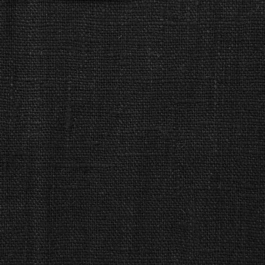 Black  100% Linen 1683 - Fabrics4Fashion