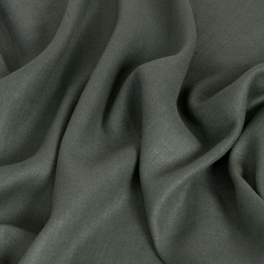 Green 100% Linen 1689 - Fabrics4Fashion