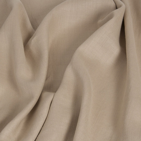 Beige 100% Linen 1691 - Fabrics4Fashion