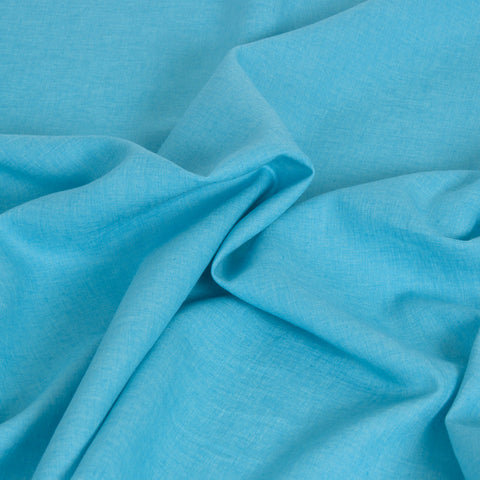 Turquoise blue Linen 1717Woven